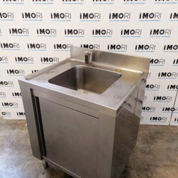 Lavello Armadiato Usato Con Porta Battente In Acciaio Inox 70x60x85h