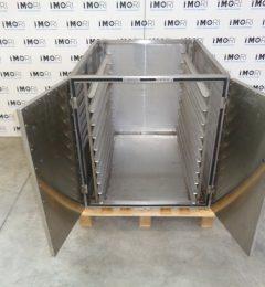 Armadio Porta Teglie Usato In Acciaio Inox Con Porte Battenti 78x95x86h