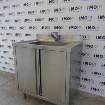 Lavello Armadiato Usato Con Porte Battenti In Acciaio Inox 80x60x85h