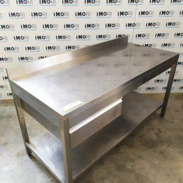 Tavolo Di Lavoro A Giorno Usato In Acciaio Inox 160x70x85h