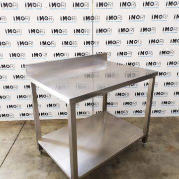 Tavolo Di Lavoro A Giorno Usato In Acciaio Inox 100x70x85h