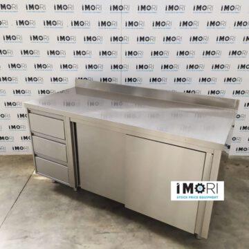 Tavolo Da Lavoro Armadiato Usato Con Cassettiera 160x70x85H